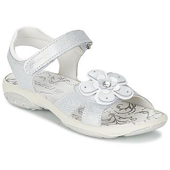Chaussures Fille Sandales et Nu-pieds Primigi LINA Blanc / Argent