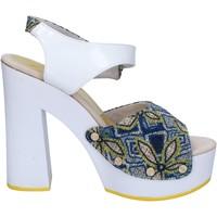 Chaussures Femme Sandales et Nu-pieds Suky Brand sandales blanc textile bleu cuir verni AC487 blanc