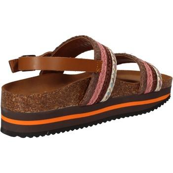 Chaussures Femme Sandales et Nu-pieds 5 Pro Ject sandales rose textile marron AC592 rose