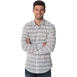 Vêtements Homme Chemises manches longues Antony Morato MMSL00425 1000 Blanc