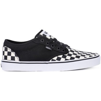 Chaussures Homme Baskets basses Vans Atwood Checkboard Noir-Blanc