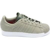 Chaussures Femme Baskets basses adidas Originals BASKET SUPERSTAR KAKI