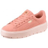 Chaussures Femme Baskets basses Puma Chaussures  W Suede Platform Trace - Peach Beige / Pearl Rose