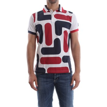 Vêtements Homme Polos manches courtes Fila 392015 POLO BIG LOGO POLO Homme WHITE RED WHITE RED