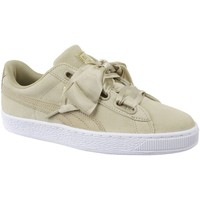 Chaussures Femme Derbies & Richelieu Puma Basket Heart Metallic Safari Beige