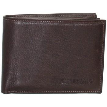 Sacs Portefeuilles Arthur & Aston Porte-cartes Arthur et Aston en cuir ref_ast42575 C Châtaigne 12 Marron foncé