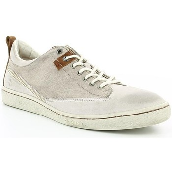 Chaussures Homme Baskets basses Kickers SANTA FE Blanc Gris
