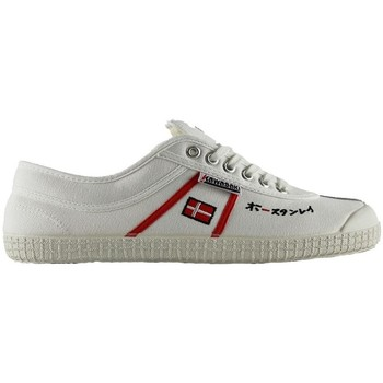 Chaussures Baskets basses Kawasaki 23 sp edit white red stripes Blanc