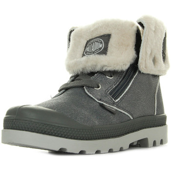 Chaussures Fille Boots Palladium Baggy Leather S gris