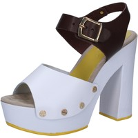 Chaussures Femme Sandales et Nu-pieds Suky Brand sandales blanc cuir marron AC809 multicolor