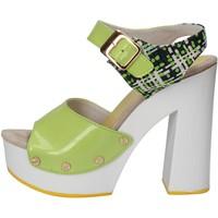 Chaussures Femme Sandales et Nu-pieds Suky Brand sandales vert cuir verni textile AC811 vert