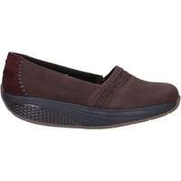 Chaussures Femme Mocassins Mbt chaussures femme  slip on mocassins marron nabuk daim AC906 marron