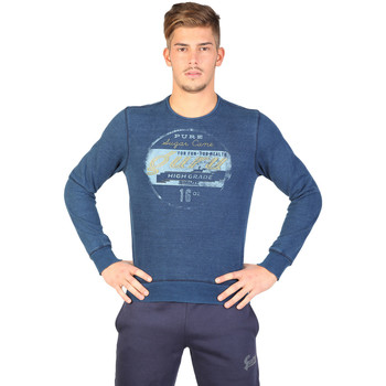 Vêtements Femme Sweats Buzzao Sweat-shirt col rond bleu Homme - Guru Bleu