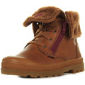 Chaussures Fille Boots Palladium Baggy Leather S marron