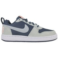 Chaussures Femme Basketball Nike w court borough low prem 861533 400 Bleu