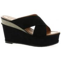 Chaussures Femme Sandales et Nu-pieds Elvio Zanon Nu pieds cuir velours Noir