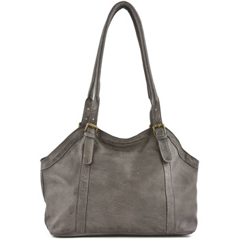 Sacs Femme Sacs porté épaule Basilic Pepper Sac shopping Galon cuir GALON 16C-00BGAL05 ANTHRACITE