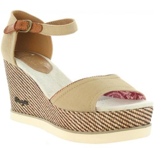 Wrangler WL171681 JEENA Beige - Livraison Gratuite avec  - Chaussures Sandale Femme