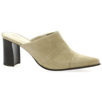 Vidi Studio Mules cuir velours Marine - Chaussures Mules Femme