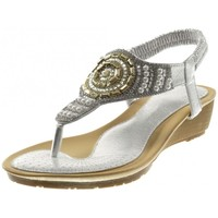 Chaussures Femme Sandales et Nu-pieds Bello Star Angkorly - Sandale Tong slip-on - strass diamant perle Argenté