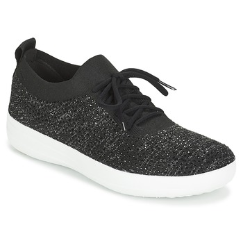 Chaussures Femme Baskets basses FitFlop F SPORTY UBERKNIT SNEAKERS CRYSTAL Noir