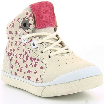 Chaussures Enfant Baskets montantes Kickers GOODJOB IMPR Blanc