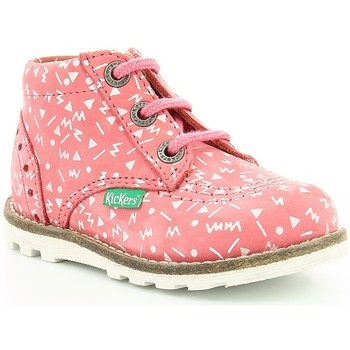 Chaussures Enfant Boots Kickers NONORALLYZ IMPR Rose