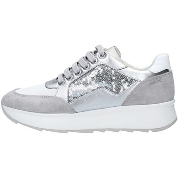 Chaussures Femme Baskets basses Geox D745TBAJAY Basket Femme Silver Silver