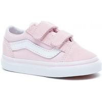 Chaussures Fille Baskets basses Vans Chaussures  T Old Skool V - Suede Canvas Charlk Pink / True Whit Rose