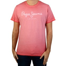 Vêtements Homme T-shirts manches courtes Pepe jeans Tee-Shirt  West Sir Rouge