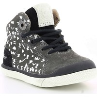 Chaussures Enfant Baskets montantes Kickers GOODJOB IMPR Gris