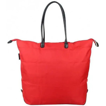 Sacs Femme Sacs porté main Duolynx Sac à main toile souple pliable  S Rouge
