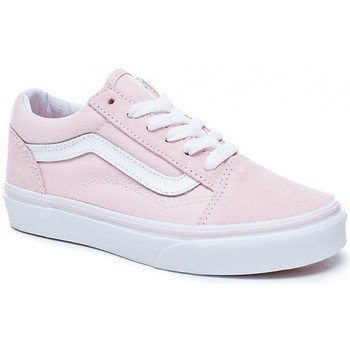 Chaussures Fille Chaussures de Skate Vans Chaussures  Y Old Skool - Suede Canvas Chalk Pink / True White Rose