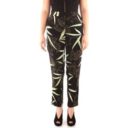 Vêtements Femme Pantalons fluides / Sarouels Guess W82B10 Pantalon Femme EXOTIC FLOWER BLACK EXOTIC FLOWER BLACK
