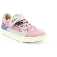 Chaussures Fille Baskets mode Kickers LYPSTER METAL Rose
