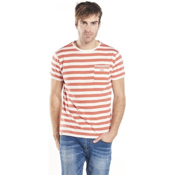 Vêtements Homme T-shirts & Polos Deeluxe T-shirt rayé Borneo orange