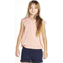 Vêtements Fille T-shirts manches courtes Deeluxe T-shirt Honey roseclair