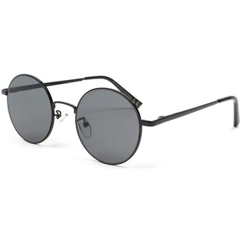 Montres & Bijoux Lunettes de soleil Eye Wear Lunette de soleil ronde noire Obladi Noir