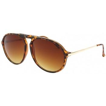 Montres & Bijoux Lunettes de soleil Eye Wear Lunettes de Soleil monture écaille marron Zep Marron