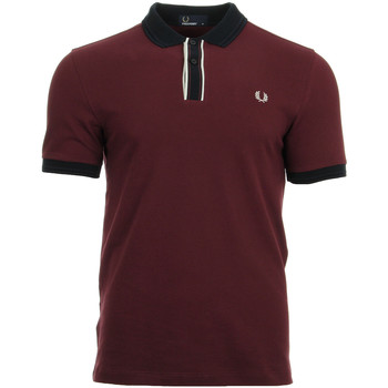 Vêtements Homme Polos manches courtes Fred Perry Tipped Placket Pique Shirt rouge