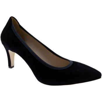 Chaussures escarpins Melluso D078E femme classique chaussures en daim fond en cuir bleu decol