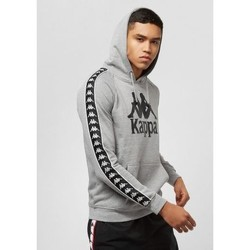 Vêtements Sweats Kappa Sweat crewneck slim fit rétro avec bandes HASSAN Gris