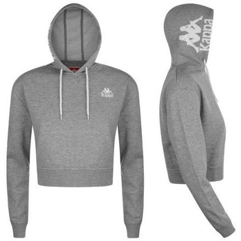 Vêtements Femme Sweats Kappa Sweat à capuche slim fit rétro ZALY Gris