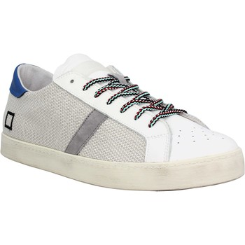 Chaussures Homme Baskets basses Date Hill Low toile Homme Blanc Bleu Blanc Bleu