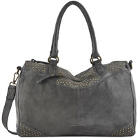 Sacs Femme Cabas / Sacs shopping Basilic Pepper Sac shopping Stick cuir STICK 16C-00BSTI01 ANTHRACITE