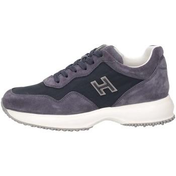 ccc8e9997d851 Chaussures Enfant Baskets basses Hogan HXC00N0V3118GMU810 Basket Bébé Bleu  Bleu