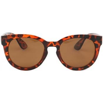 Montres & Bijoux Lunettes de soleil Eye Wear Lunettes polarisées rondes retro marron Major Marron