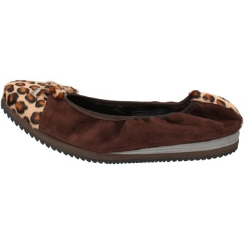 Chaussures Femme Ballerines / babies Calpierre ballerines marron daim cheveux veau AD574 marron