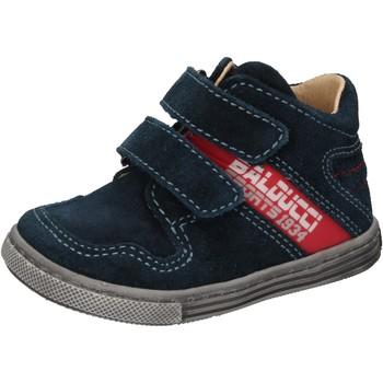Chaussures Garçon Baskets montantes Balducci sneakers bleu daim AD585 bleu
