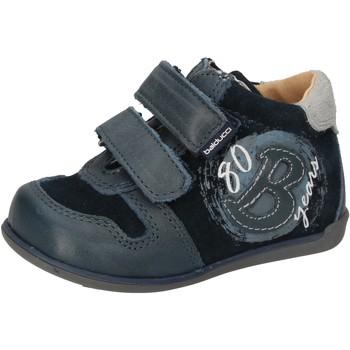 Chaussures Garçon Baskets montantes Balducci sneakers bleu daim cuir AD588 bleu